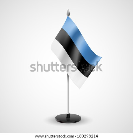 State table flag of Estonia. National symbol   - stock vector