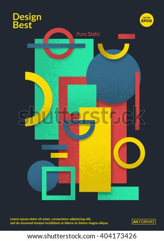 Static Design Poster Simple Colorful Geometric Stock Vector ...
