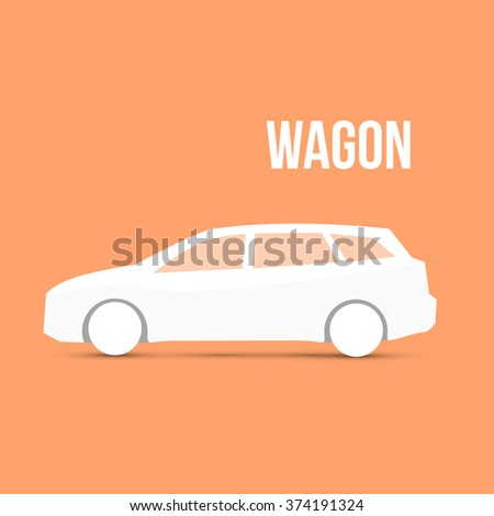 Station Wagon Sample Car Icon Isolated Vector illustration