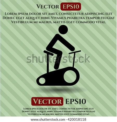 Stationary bike icon, Stationary bike icon vector, Stationary bike icon symbol, Stationary bike flat icon, Stationary bike icon eps, Stationary bike icon jpg, Stationary bike icon app - stock vector