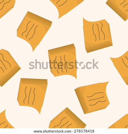stationary note , cartoon seamless pattern background - stock vector