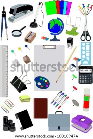 Stationery 3 - stock vector
