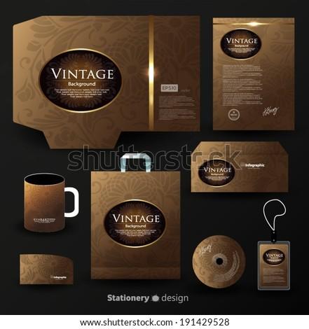 stationery design - stock vector