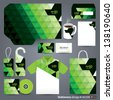 Stationery design set in vector format. - stock vector