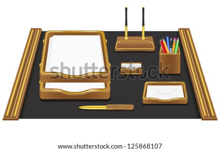 stationery office vector illustration isolated on white background