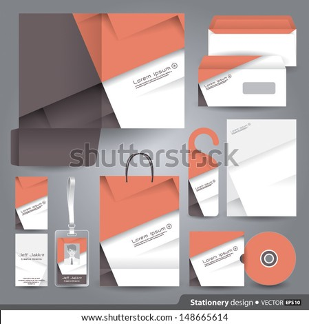 Stationery set design / Stationery template / Corporate identity design vector. - stock vector