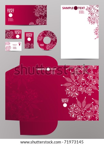 stationery set, eps10 - stock vector