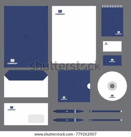 stationery template design, Documentation for business, vector illustration