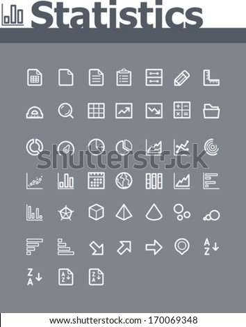 Statistic elements icon set - stock vector