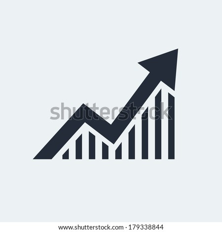 Statistic Flat Icon with shadow. Vector EPS 10. - stock vector