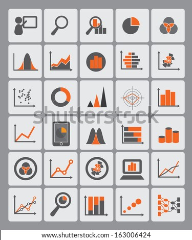 statistical diagrams used for info graphic icons, data presentation, data visualization, website images, information ornaments, and other illustrations - stock vector