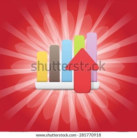 Statistics Displaying Growth! Center of Attention Background - stock vector