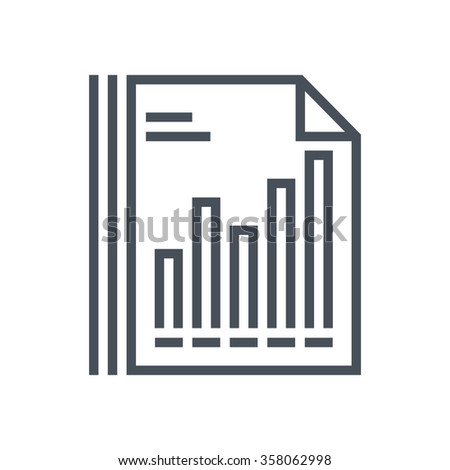 Statistics icon suitable for info graphics, websites and print media and  interfaces. Line vector icon.