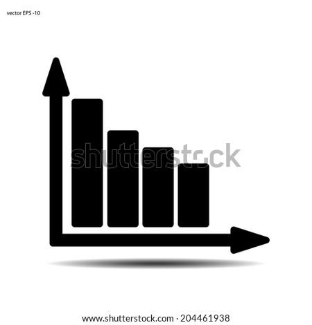 Statistics icon vector chart - stock vector