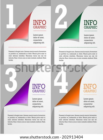 Statistics icons and charts set in flat design suitable for info graphics, presentations, web design, vector illustration - stock vector