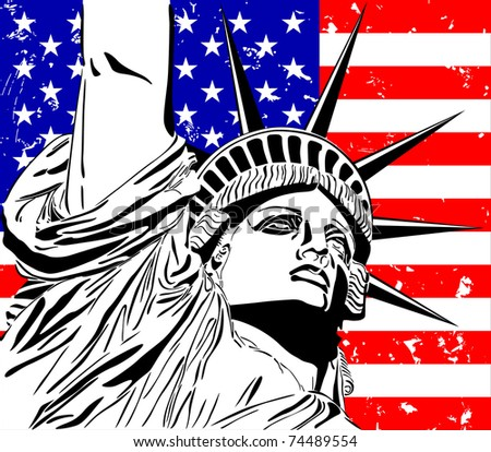 Statue of Liberty. - stock vector