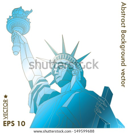 statue of Liberty abstract - stock vector