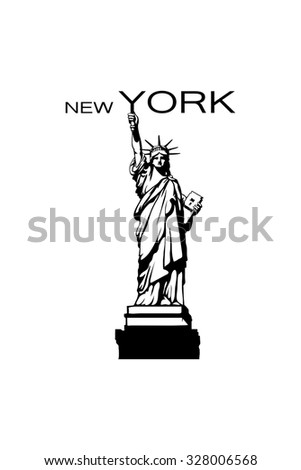 Statue of Liberty in New York - stock vector