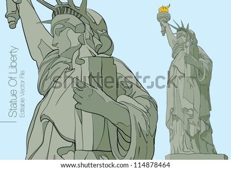 Statue of Liberty. New York - stock vector