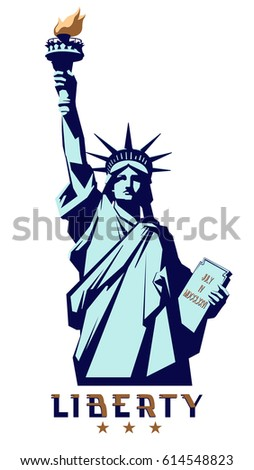 statue liberty new york landmark usa stock vector 614548823 rh shutterstock com statue of liberty lego minifigure statue of liberty logo designs