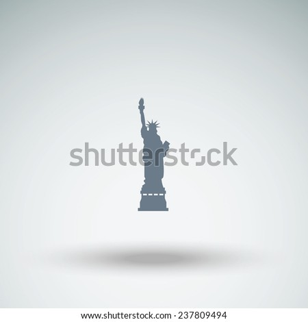 Statue Of Liberty vector icon - stock vector