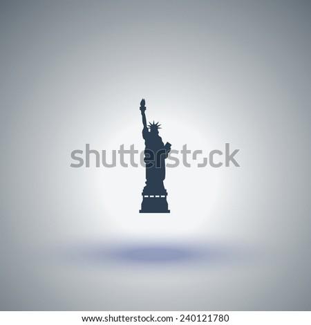 Statue Of Liberty vector icon - stock vector