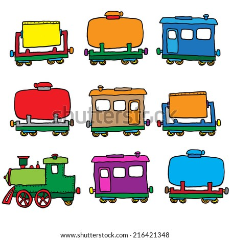 steam locomotive. vector illustration - stock vector