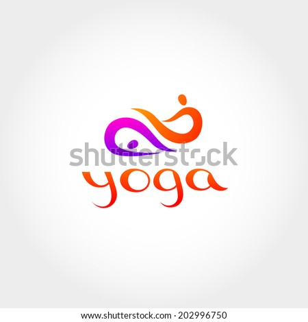 Steam yoga - a symbol. Vector sign. - stock vector