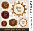 Steampunk Labels Set - stock photo