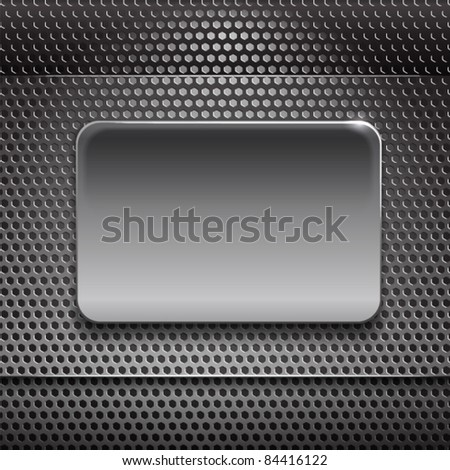 Steel board on metal background. ready for your text