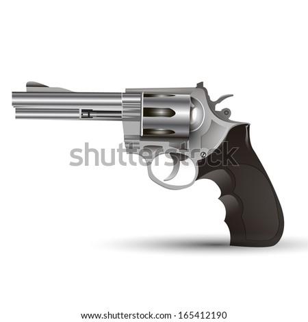 steel  gun - stock vector