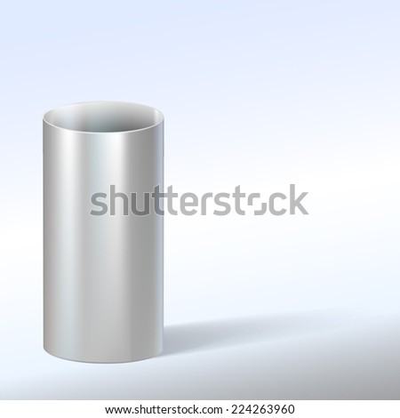 Steel pipe, vector illustration with place for text.. - stock vector