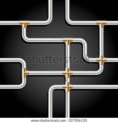 Steel pipes background pattern