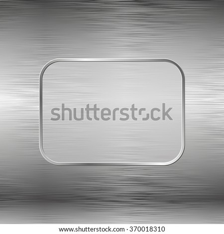 steel texture and banner - stock vector