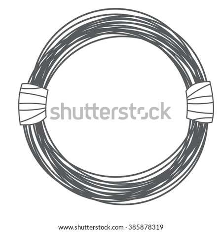 Steel Wire Rope Cable Cartoon Style Stock Photo (Photo, Vector ...