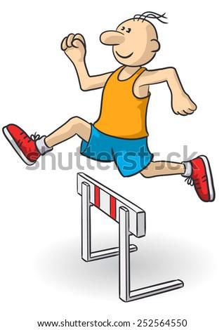 steeplechase - stock vector