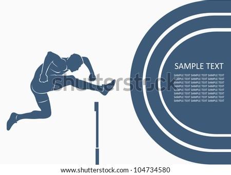 Steeplechase race - vector background - stock vector