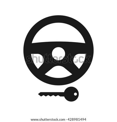 Steering lock icon. Steering lock icon eps 10. Steering lock vector. Steering lock icon illustration. Steering lock icon picture. Steering lock icon flat. Steering lock icon design - stock vector