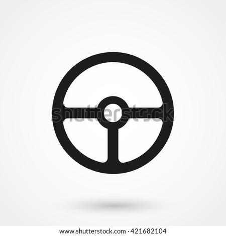 Steering wheel icon isolated on background. Modern flat pictogram, business, marketing, internet concept. Trendy Simple vector symbol for web site design or button to mobile app. Logo illustration - stock vector
