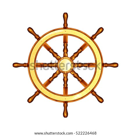 Steering wheel Marine. Steering wheel. Vector illustration