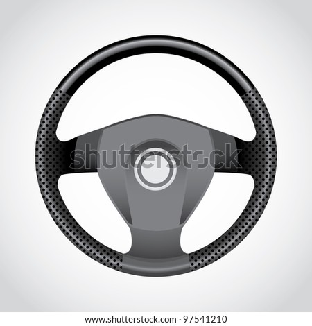 Steering wheel - realistic illustration - stock vector
