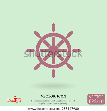 steering wheel vector icon - stock vector