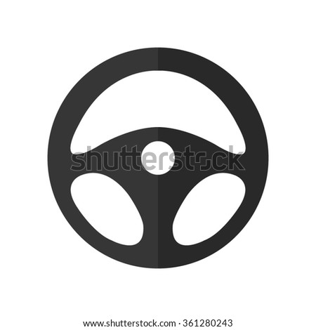 steering wheel -  vector icon