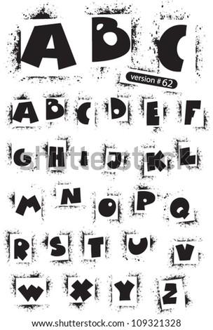 Graffiti Stencils Letters Stencil alphabet