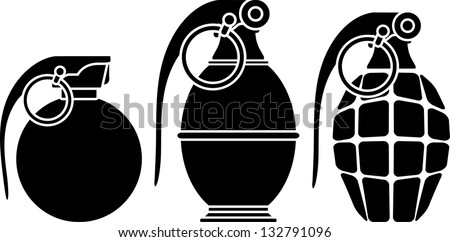 stencils grenades vector illustration stock vector 132791096 rh shutterstock com grenade vector images grenade vector images