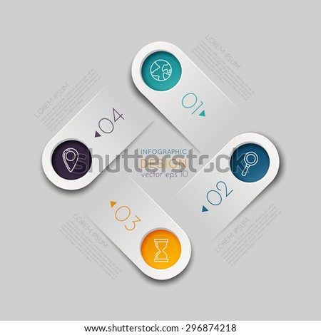 Step-by-step business concept. - stock vector