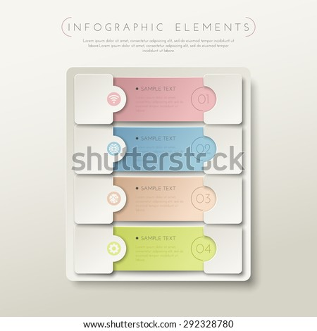 Step-by-step. Colour 3D illustration. With shadows on a colored background. - stock vector