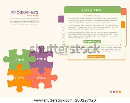 Step by step infographics  - stock vector