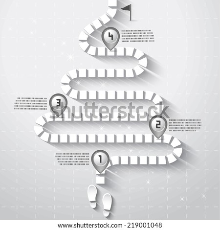 Step by Step Infographics pathway with map pointers,Holiday Concept, Vector EPS10 - stock vector