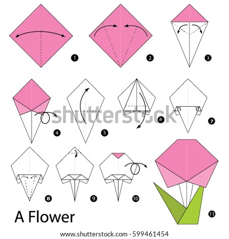 Origami flower stock images royalty free images vectors for How to make a paper design